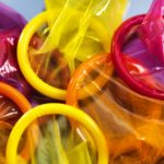 Coloured condoms